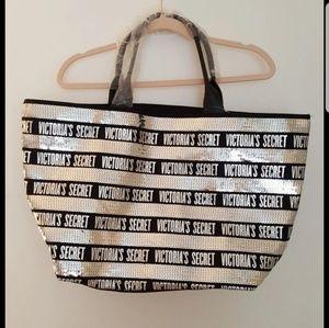 Victoria Secret Large Sequined Tote Bag